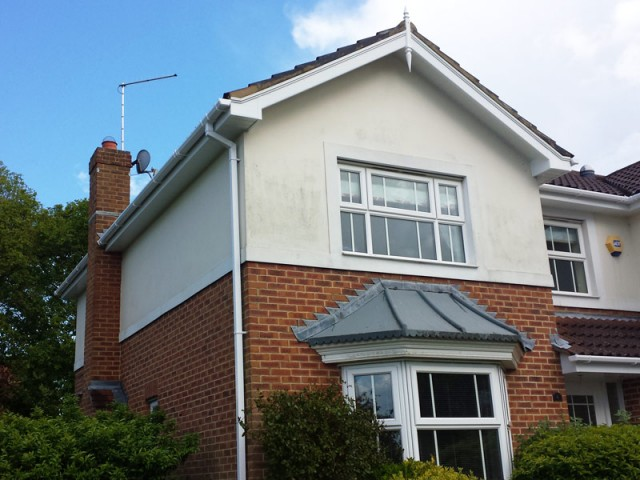 Fascias and soffits white upvc