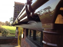 ogee gutter in brown UPVC