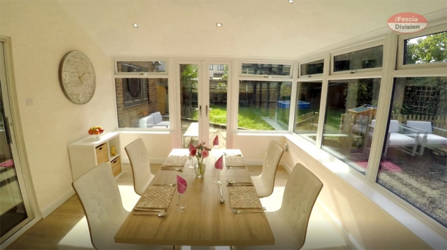 Inside Equinox conservatory tiled roof conversion