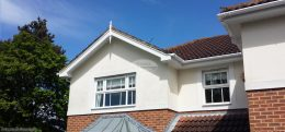 white square guttering white fascias soffits