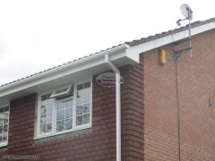 UPVC bargeboards and soffit with square guttering Hook