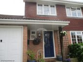 White hollow soffit with white square guttering in Hook
