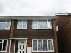 White UPVC guttering, white fascia and soffit replacement Basingstoke