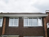 White UPVC guttering, white fascia and tongue and groove soffit Basingstoke