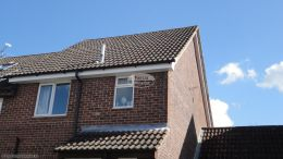 Black half round gutter system contractor basingstoke rooftrim specialist installers soffit guttering fascia