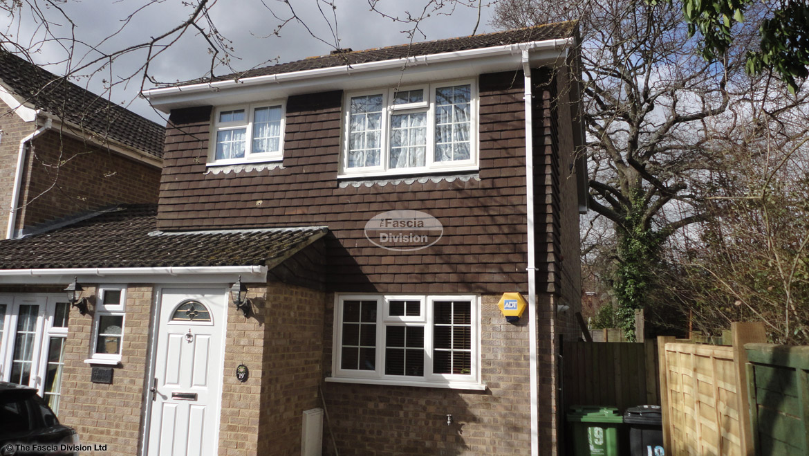 Fascia board Soffits installation Basingstoke roofing contactor white upvc