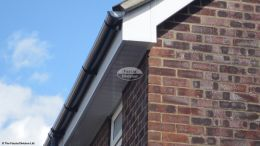 fascias soffits guttering halfround black downpipe rooftrim roofing rooftrim