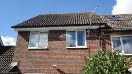 fascias soffits guttering halfround black downpipe rooftrim white basingstoke full replacement