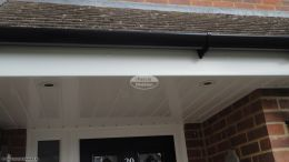 fascias soffits guttering halfround black downpipe rooftrim white led spot lights