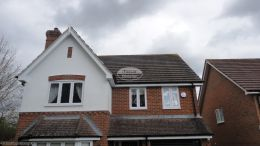 half round gutter system contractor Basingstoke rooftrim specialist installers soffit fascia guttering