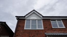 Eversley recent full replacement White fascias soffits guttering brown guttering