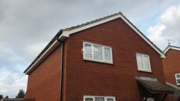 Thatcham Newbury recent full replacement white fascia boards soffits black guttering