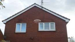 Thatcham Newbury recent full replacement white fascias soffits black guttering