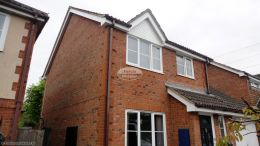 soffits fascias replacement upvc Eversley home improvements brown guttering