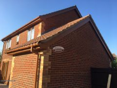 Soffit And Fascia Replacement Light Oak Upvc Basingstoke