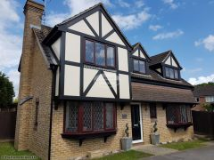 UPVC mock tudor beams installation