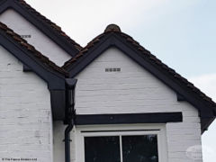 Installation of anthracite grey UPVC fascia, soffit and guttering