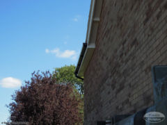 UPVC black gutters with white soffit and fascia full replacement Tadley