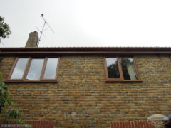 UPVC oak fascia and soffit with matching UPVC windows