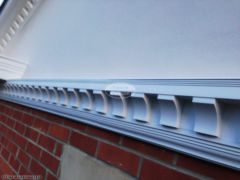 Bespoke dentil mouldings fascia soffit guttering installation by The Fascia Division
