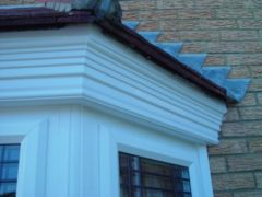 close up of mitre on decorative fascias