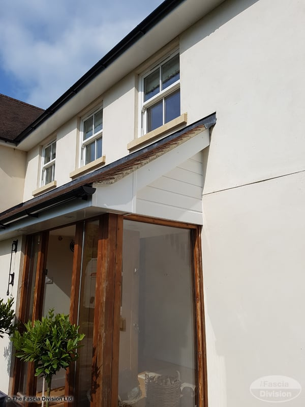 Black Fascia House Contemporary Exteriors Farmhouse: Install Soffits And Fascias In Andover