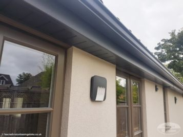 Anthracite seamless guttering, fascias and soffits picture 6