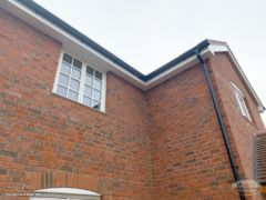 Ogee guttering with white PVC fascias and soffits