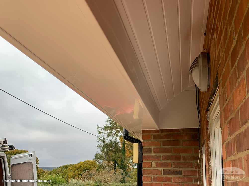 New UPVC cladding on a porch