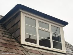 guttering and fascias on a domer window
